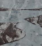 Celadon Inlet by Rebecca Turk-Richards, Painting, Oil and Graphite on Paper